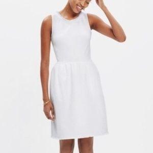 Madewell afternoon fringe white dress